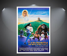 Labyrinth Vintage Movie Poster - A1, A2, A3, A4 Sizes