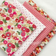 """FREE SHIPPING Pink Floral Natrue Series Charm Cotton Quilt Fabric  55""""x 39"""""""