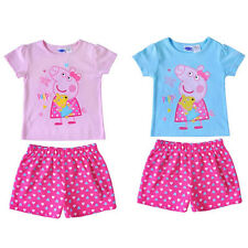 Girl Peppa Pig Clothes Children Kids Top Blouse With Pants Blue/Pink 1-6 years