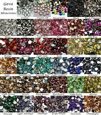 Wholesale 3mm 14 Facets Gava Resin Flat back Rhinestones 35 Colors Crystal