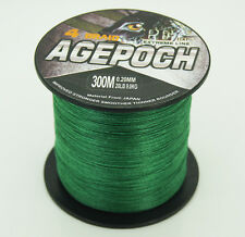 Super Strong PE Dyneema Spectra Braid Fishing Line 300M Moss Green /Agepoch
