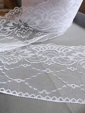 white VINTAGE LACE RIBBON 135mm BRIDAL Classic garland decor floris - per Yard