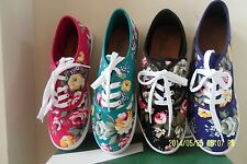 NEW Women Girl Teens STYLISH Floral Tennis Shoes Fall Spring Summer Sz 6-10 LOOK