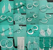 FREE NEW gift wholesale fashion Jewelry Solid Silver Ladies 925SILVER Earrings