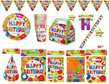 Bubble Happy Birthday Party Decorations Tableware Cups Plates Hats Balloons Bags