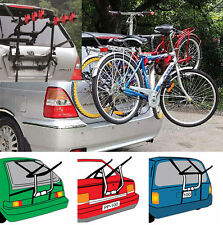 BICYCLE CARRIER FITS MOST UNIVERSAL CARS REAR MOUNT 2/3 BIKE CAR RACK FREE LOCK