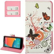Pattern Leather Case with Credit Card Slots & Holder for Google Nexus 5 / E980
