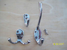 SOLID BRASS CHROME FINISH HAT & COAT HOOK SINGLE DOUBLE