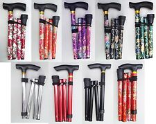 Easy Folding Adjustable Lightweight Aluminium Walking Sticks Floral Cane