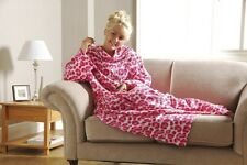NEW Fleece Snuggie Blanket With Sleeves super soft 2 colors