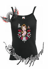 ★Alternative Disney★ Belle Beauty and the beast  Strap Top  Rock Tattoo  punk