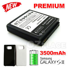 Premium Extended 3500mAh Battery with Back Case Cover for Samsung Galaxy S2