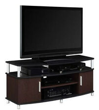 "Carson TV Stand TVs up to 50"" Flat Panel TV Console Entertainment Center Wood"