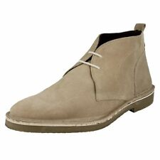 SALE Mens HAMMOCK  Beige Suede Leather lace up ankle boots By base london