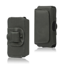 GENUINE REAL LEATHER BELT CLIP POUCH HOLSTER CASE FLIP COVER SIDE BUTTON HOLDER