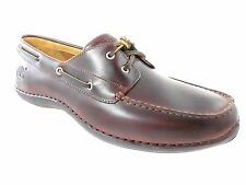 TIMBERLAND 74013 ANNAPOLIS MEN'S ROOTBEER LEATHER BOAT SHOES SZ 7, 7.5