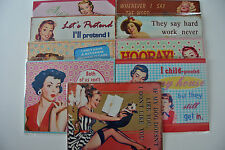 Vintage/Retro Style Humorous/Funny Metal Plaques - 9 Styles of Ladies