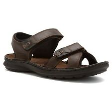 Clarks SWING DALE Men's Brown Leather Wedge Sandal Style # 68021