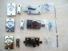 3 finishes WC Vacant Engaged Toilet Bathroom door lock Indicator bolts