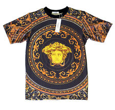 Brand New Authentic Baroque Versace T-Shirt With Medusa Head Sizes M,L,XL,XXL