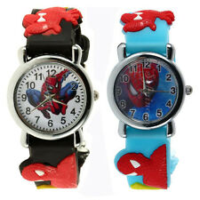 Spider Man Marvel Cartoon Child Boys Kids Analog Quartz Wrist Watch Rubber SS