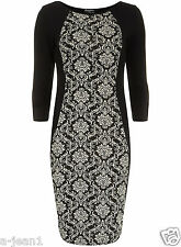 DOROTHY PERKINS BLACK FLEUR PRINT SOFT KNIT TUNIC DRESS BY INDULGENCE DESIGNER