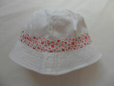 GIRLS SUN HAT WHITE AND PINK REVERSIBLE SUMMER HOLIDAYS