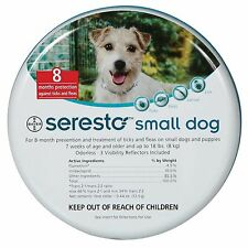 Seresto Flea & Tick Collar for Small Dogs + 2 Worming Tablets gratis
