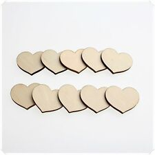 WOODEN WOOD LOVE HEART DECOR IDEAL ART WEDDING CARD MAKING SCRAP BOOKING BABY