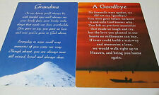 Large Keepsake Card – Sentimental Verses – In Loving Memory