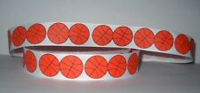 "GROSGRAIN BASKETBALL PRINT 7/8"" INCH GROSGRAIN RIBBON 1, 3 OR  5 YARDS**"