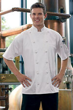Short sleeve white master chef coat, egyptian cotton, XS to 6XL, 493EC