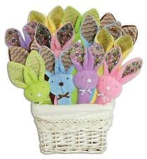 """Stephan Baby Boo Bunny 8"""" Post Rattle Plush Toy Baby Shower Gift Assortment NWT"""