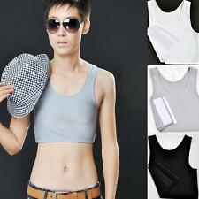 Breathable Buckle Short Chest Pretty Breast Binder Trans Lesbian Tomboy White