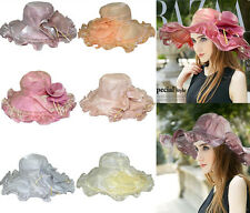 Elegant Women Formal Hat Organza Dress Church Wedding Kentucky Derby Hat Sun Cap