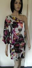 Pied A Terre Single Arm Digital Print Silk Dress Size 8 NWOT RRP £140.00