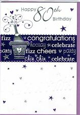 Age 80th Birthday Greeting Cards Male & Female BARGAIN PRICES CHEAP P&P