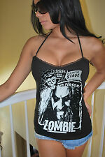 DIY Rob Zombie halter top sweetheart Horror Metal rock Goth  XS-XL