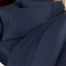 1000TC 1-PC Split Corner Tailored Bed Skirt Navy Blue Solid Select Size & Drop