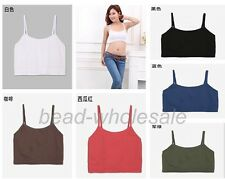 Free Shipping Strap Cropped Tube Tank Top Bandeau Yoga Athletic Sports underwear