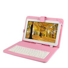 """10"""" Android 4.2 Tablet PC 10.1"""" Dual Core 8G/1G DDR3 Bundle Pink Keyboard Case"""