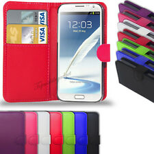 SAMSUNG GALAXY NOTE2 - NEW PU LEATHER WALLET BOOK CASE COVER POUCH