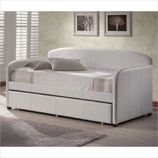 Hillsdale Springfield White Faux Leather Daybed