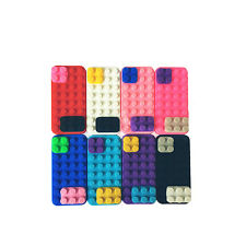 3D LEGO Building Blocks Brick Soft Silicone Back Case Skin Cover For iPhone 5 5S