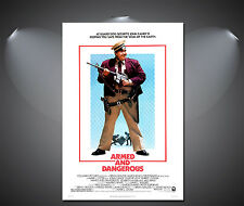 Armed and Dangerous John Candy Vintage Movie Poster - A1, A2, A3, A4 Sizes
