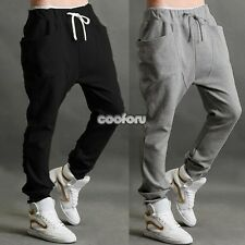 Mens Casual Dance Jogger Sport Hip Hop Baggy Harem Pants Trousers Slacks
