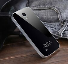 Metal Bumper Frame+Acrylic Back Cover Case For Samsung Galaxy S4 i9500 i9508