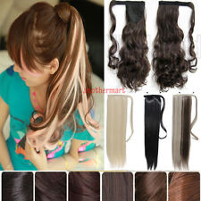 Stunning hot wrap around clip in ponytail hair extensions pony tail hair