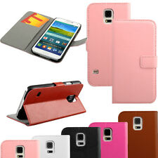 Luxury Leather Card Wallet Flip Stand Case Cover For Samsung Galaxy S5 S V i9600