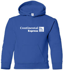 Continental Express Vintage US Airline Logo HOODY